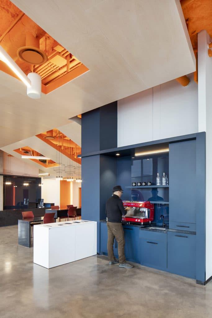 OCAD U CO Waterfront Facility - operating coffee machine
